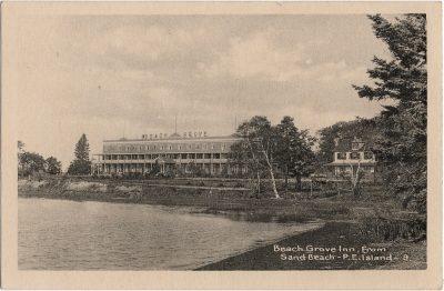 , Beach Grove Inn, from Sand Beach – P.E. Island. (1794), PEI Postcards