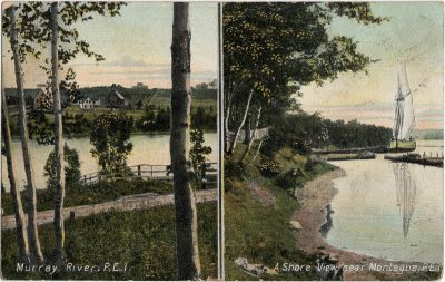 , Murray River, P.E.I. / A Shore View near Montague, P.E.I. (1795), PEI Postcards
