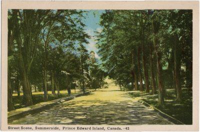 , Street Scene, Summerside, Prince Edward Island, Canada. (1804), PEI Postcards
