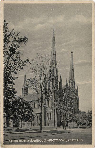 , St. Dunstan's Basilica, Charlottetown, P.E. Island (1809), PEI Postcards