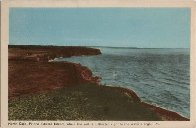 , North Cape, Prince Edward Island, where the soil is cultivated right to the water's edge. (1813), PEI Postcards