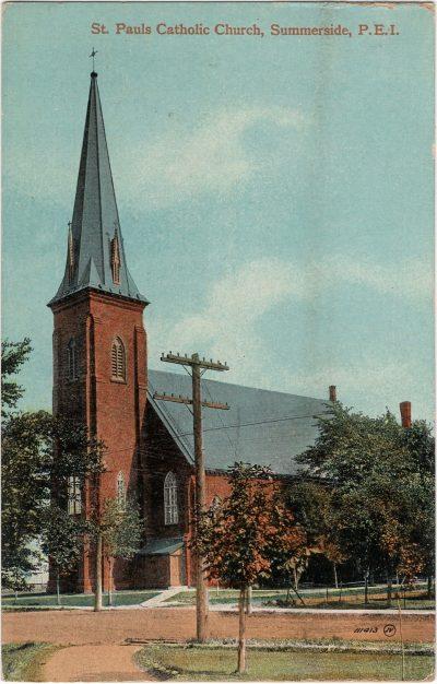 , St. Pauls Catholic Church, Summerside, P.E.I. (1818), PEI Postcards