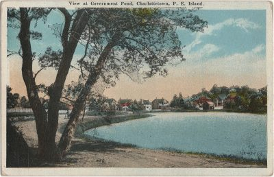 , View at Government Pond, Charlottetown, P.E. Island. (1819), PEI Postcards