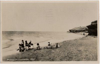 , Bathing at Cavendish, P.E.I. (1822), PEI Postcards