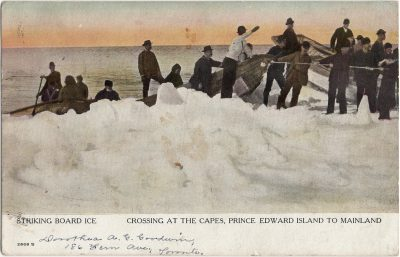 , Striking Board Ice Crossing at the Capes, Prince Edward Island to Mainland (1823), PEI Postcards