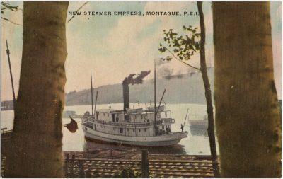 , New Steamer Empress, Montague, P.E.I. (1833), PEI Postcards