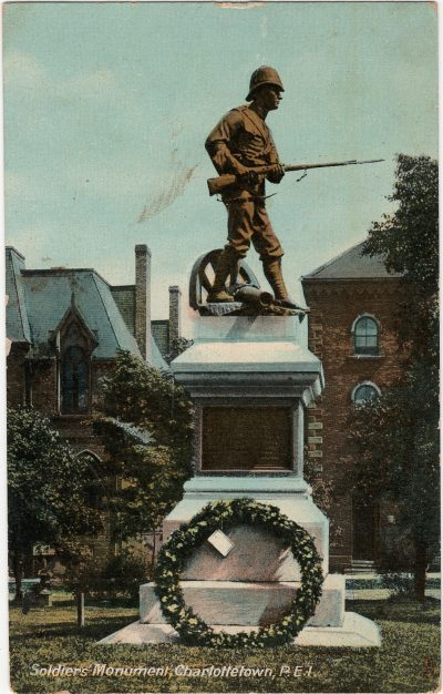 , Soldiers' Monument, Charlottetown, P.E.I. (1836), PEI Postcards