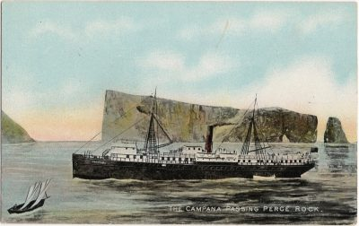 , The Campana passing Perce Rock. (1837), PEI Postcards