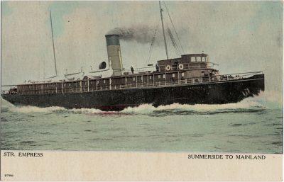 , Str. Empress Summerside to Mainland (1839), PEI Postcards