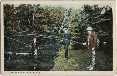 , Fishing Scene, P.E. Island. (1840), PEI Postcards