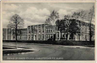 , Prince of Wales College, Charlottetown, P.E. Island (1827), PEI Postcards