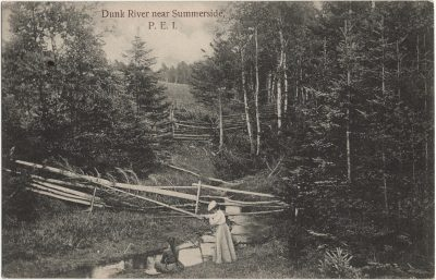 , Dunk River near Summerside, P.E.I. (1841), PEI Postcards