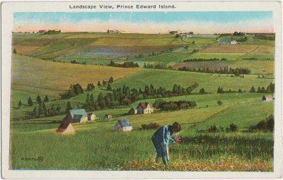 , Landscape View, Prince Edward Island. (1848), PEI Postcards