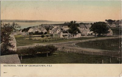 , Sectional View of Georgetown, P.E.I. (1852), PEI Postcards