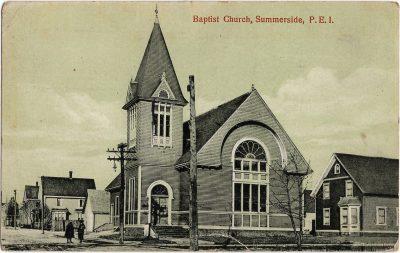, Baptist Church, Summerside, P.E.I. (1853), PEI Postcards