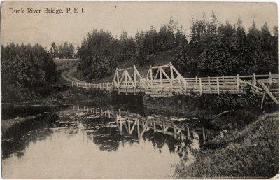 , Dunk River Bridge, P.E.I. (1854), PEI Postcards