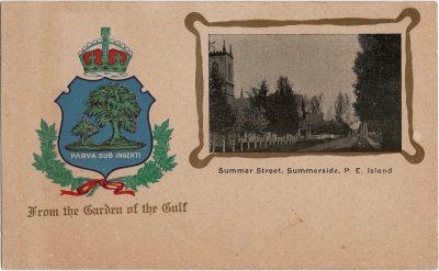 , Summer Street, Summerside, P.E. Island (1856), PEI Postcards