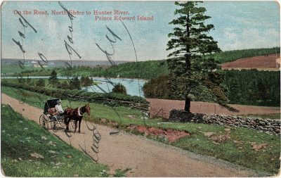 , On the Road, North Shore to Hunter River, Prince Edward Island (1859), PEI Postcards