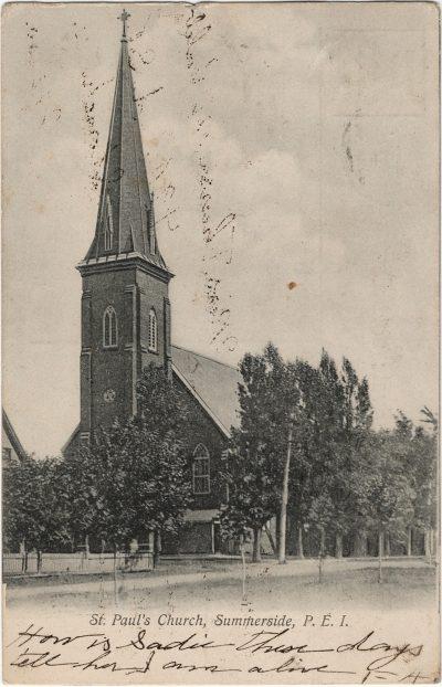 , St. Paul's Church, Summerside, P.E.I. (1860), PEI Postcards