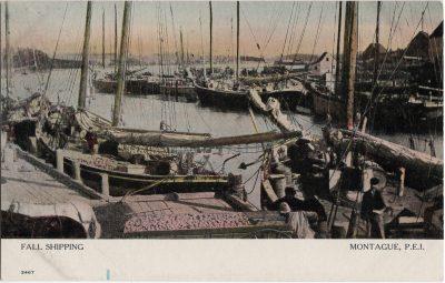 , Fall Shipping Montague, P.E.I. (1864), PEI Postcards
