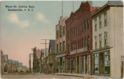 , Water St. looking East, Summerside, P.E.I. (1867), PEI Postcards