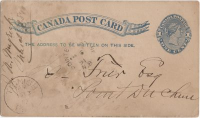 , Canada Post Card (1868), PEI Postcards