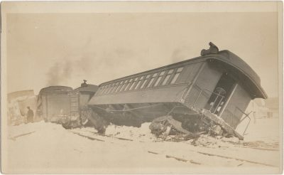 , {train wreck at O'Leary 2-26-1914} (1829), PEI Postcards
