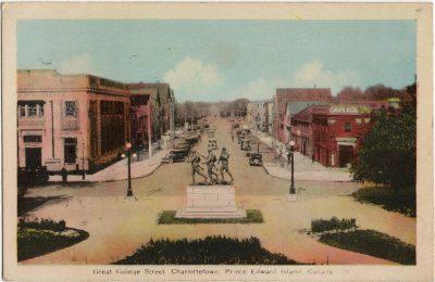 , Great George Street, Charlottetown, Prince Edward Island, Canada. (1874), PEI Postcards