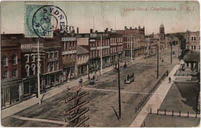 , Queen Street, Charlottetown, P.E.I. (1875), PEI Postcards