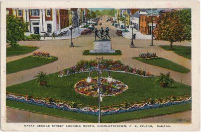 , Great George Street Looking North, Charlottetown, P.E. Island, Canada. (1871), PEI Postcards