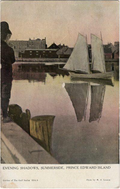 , Evening Shadows, Summerside, Prince Edward Island (1890), PEI Postcards
