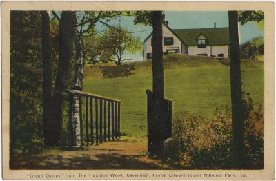 """, """"Green Gables"""" from the Haunted Wood, Cavenidhs, Prince Edward Island National Park. (1892), PEI Postcards"""