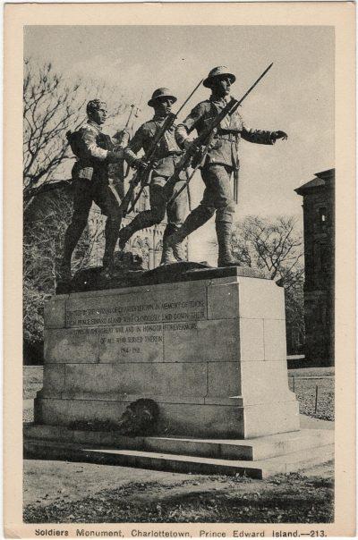 , Soldiers Monument, Charlottetown, Prince Edward Island. (1894), PEI Postcards