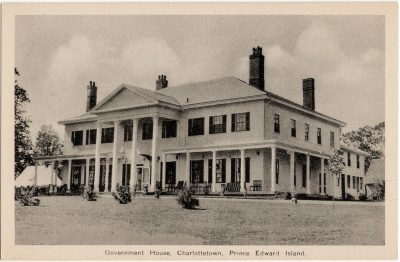 , Government House, Charlottetown, Prince Edward Island. (1895), PEI Postcards