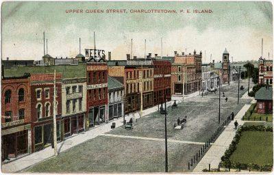 , Upper Queen Street, Charlottetown, P.E. Island. (1898), PEI Postcards