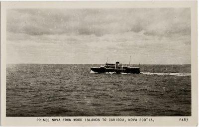 , Prince Nova from Wood Islands to Caribou, Nova Scotia. (1899), PEI Postcards
