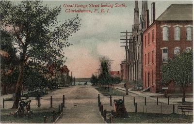, Great George Street looking South, Charlottetown, P.E.I. (1907), PEI Postcards