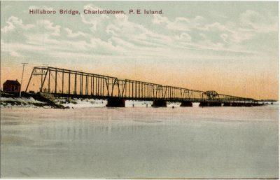 , Hillsboro Bridge, Charlottetown, P.E. Island. (1908), PEI Postcards