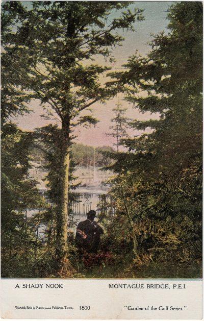 , A Shady Nook Montague Bridge, P.E.I. (1915), PEI Postcards
