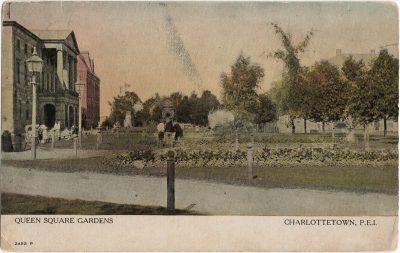, Queen Square Gardens Charlottetown, P.E.I. (1920), PEI Postcards