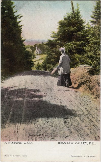 , A Morning Walk Bonshaw Valley, P.E.I. (1921), PEI Postcards