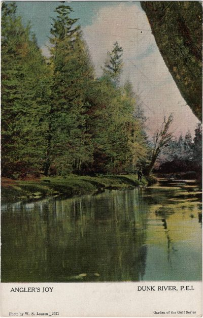 , Angler's Joy Dunk River, P.E.I. (1922), PEI Postcards