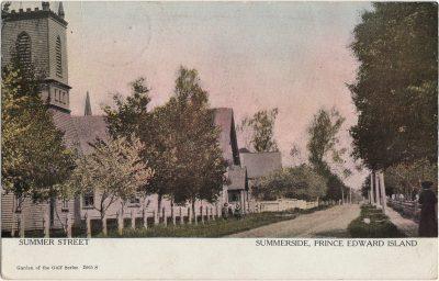 , Summer Street Summerside, Prince Edward Island (1911), PEI Postcards