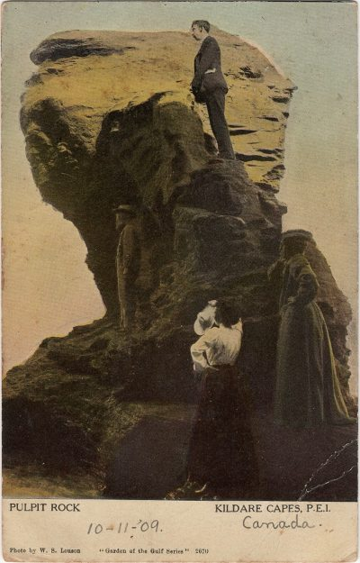 , Pulpit Rock Kildare Capes, P.E.I. (1912), PEI Postcards