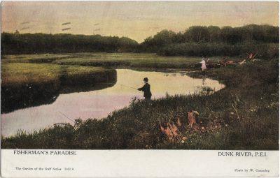 , Fisherman's Paradise Dunk River, P.E.I. (1929), PEI Postcards