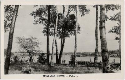 , Montague River – P.E.I. (1937), PEI Postcards