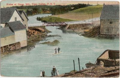 , Ruins of Steam Mill, Tyne Valley, P.E.I. (1938), PEI Postcards