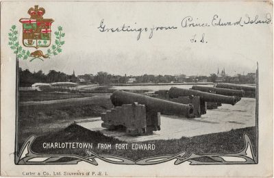 , Charlottetown from Fort Edward (1939), PEI Postcards