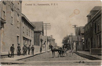 , Central St., Summerside, P.E.I. (1942), PEI Postcards