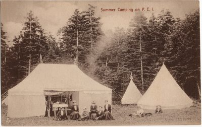 , Summer Camping on P.E.I. (1944), PEI Postcards